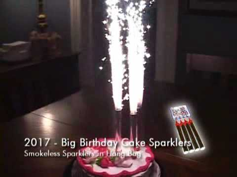 BIRTHDAY CAKE FOUNTAIN SPARKLERS