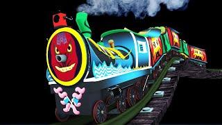 Halloween : Toy Factory Halloween Cartoon Trains