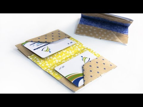 How To Make a Paper Wallet - Gift idea - DIY Father's Day