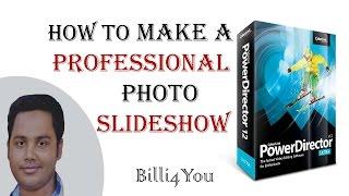 how to make slideshows in powerdirector 12