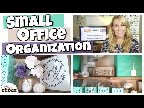 SMALL Office Organization || Farmhouse Style Office MAKEOVER