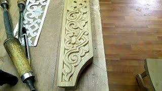 Резьба по дереву.Дубовый наличник.Плоскорельеф.Carving on wood.