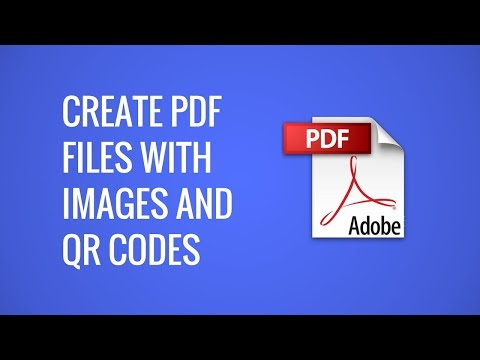 Create PDF Documents With Images And QR Codes