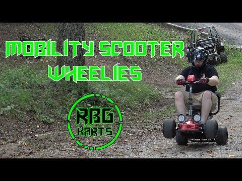 Gas Powered Mobility Scooter Ep 3 ~ Test Ride & Wheelies! (Predator 212)