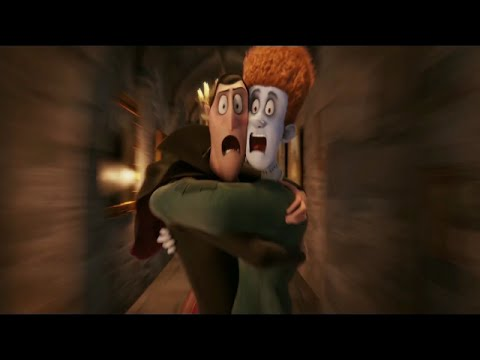 Flying Tables. [Funny Scene]-Hotel Transylvania. (Full-HD)