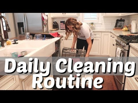 DAILY CLEANING ROUTINE // WHAT I CLEAN EVERY DAY // CLEAN WITH ME 2018