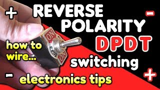 Reverse Polarity Switching / DPDT switch wiring by VOG (VegOilGuy) - YouTube | Dpdt Switch Reversible Motor Wiring Diagram |  | YouTube