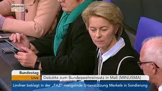 Bundeswehreinsatz in Mali: Bundestagsdebatte vom 22.11.2017