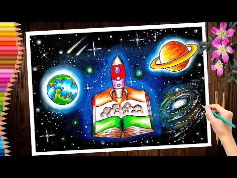 the achievements of india in the field of science and technology painting/chandra dinam drawing