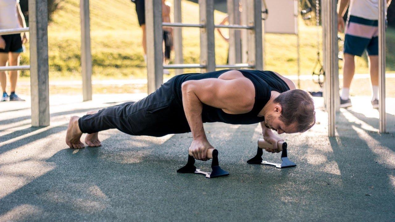 Parallettes 2x Liegestützgriffe Push up Stand Bars Liegestütze Fitness Sport