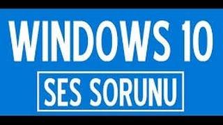 windows 10 ses simgesi yok soruunu