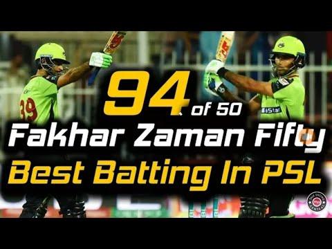 Fakhar Zaman 94 Runs 50 Balls Vs Quetta Gladiator