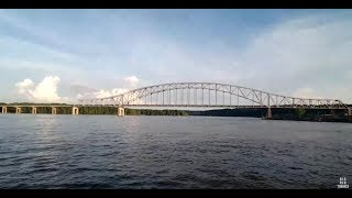BigRigTravels LIVE! VACATION CAM Rockford, Illinois to Dubuque, Iowa US 20 West-July 5, 2019