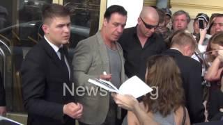 Till Lindemann (Rammstein) & fans - next day after show in Moscow 19.06.2016