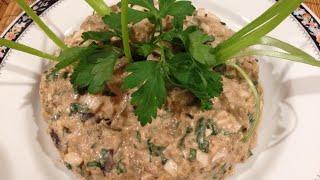 Салат из баклажанов с яйцом, орехами и майонезом_Eggplant salad with egg, nuts and mayo