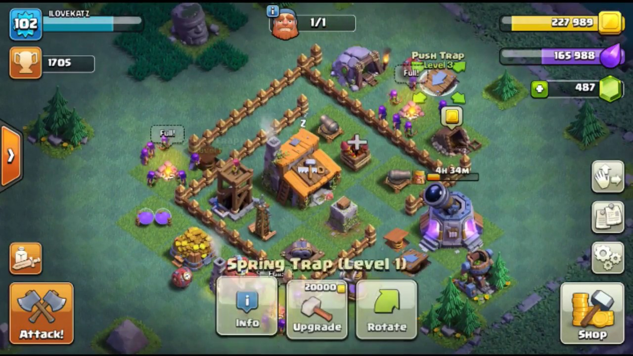 Clash of clans best builder base level 3 before level 4 Best builder house 4 base