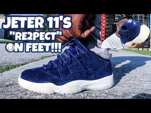 THE QUALITY IS AMAZING ON THESE!!! JORDAN 11 LOW RE2PECT/JETER ON FEET REVIEW!!!