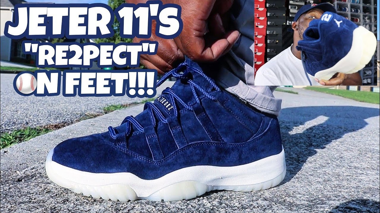 d2aefd33f9320a THE QUALITY IS AMAZING ON THESE!!! JORDAN 11 LOW RE2PECT JETER ON FEET  REVIEW!!!