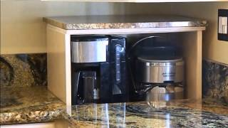 Blind Corner Cabinet Appliance Lift Demonstration