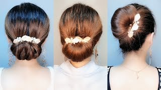 16 Bun Hairstyles for Back To School   Prom HEATLESS Hairstyles! 👌 Best Hairstyles for Girls #129