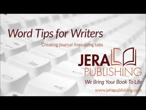 Word Tips For Writers Creating Journal Lines In Microsoft Word