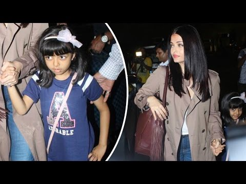 Aishwarya Rai Bachchan Snapped Leaving For Cannes With Daughter Aaradhya