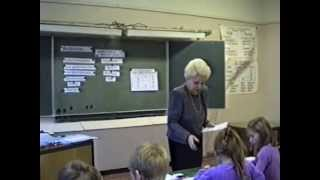 Урок русского языка в 4 классе. Зачетный урок по разделу