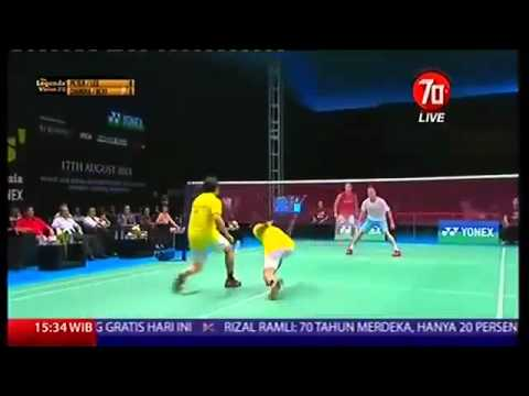 Full Aksi Lucu Rexy Mainaky Peter Gade Lee Chong Wei Candra Wijaya (The Legend Vision)