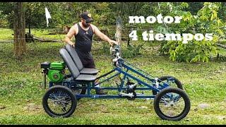 Carro a pedales terminado con motor 4 tiempos (#bicimotoszoids)
