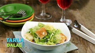 Lettuce Crouton And Cheese Salad By Tarla Dalal
