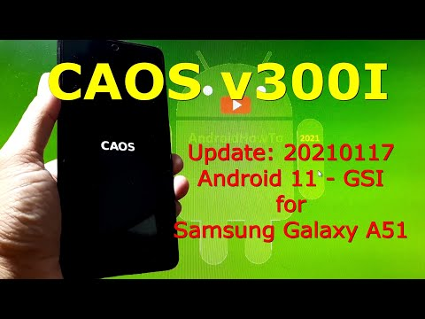 CAOS v300l Android 11 for Samsung Galaxy A51 - Stable