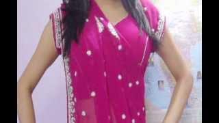 How To Wear Wedding Sari-Designer Indian Sidha Pallu Wedding Saree Draping