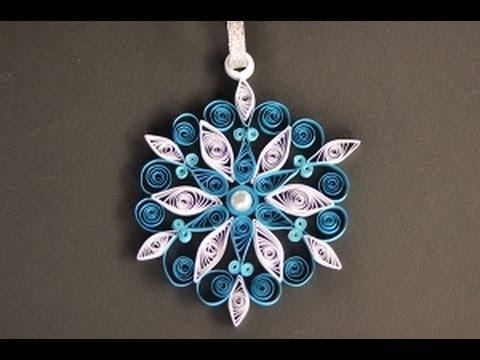 Papercraft Quilling krok po kroku - błękitna śnieżynka