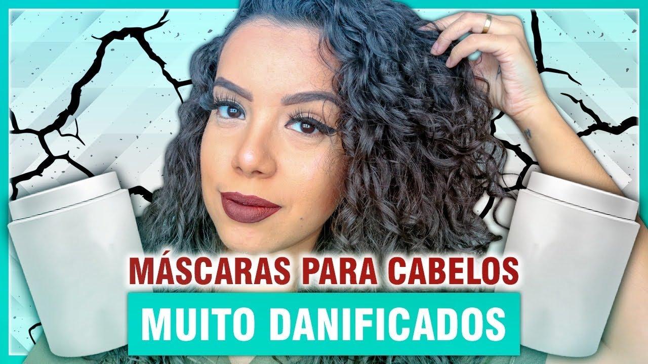 TOP MÁSCARAS PARA CABELOS MUITO DETONADOS E DANIFICADOS [NO E LOW POO] - Tamires Maia