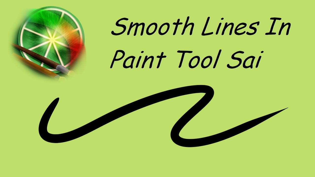 Drawing Smooth Lines With Cocos2d : Smooth lines in paint tool sai tutorial youtube
