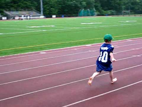Running around the quarter mile track - YouTube