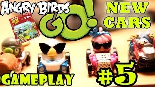 Let's Play Angry Birds Go: Pt. 5 (i Got The Blues!) Telepods Deluxe Multi-pack Gameplay - 5 New Cars
