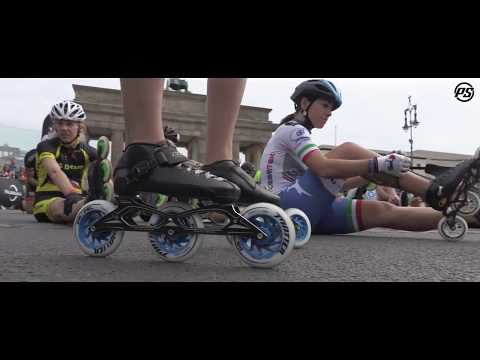 Berlin Marathon 2017 - Bart Swings skating for Powerslide Racing Inline skates