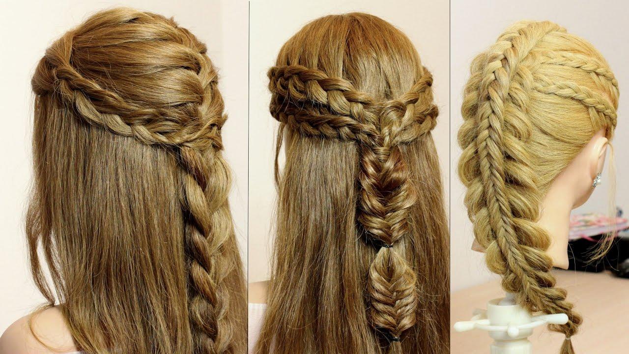 3 easy hairstyles long hair