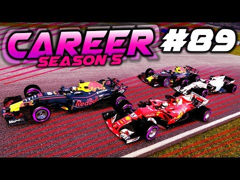 FIGHTING TILL THE LAST LAP WITH LOW FUEL - F1 2017 Career Mode Part 89