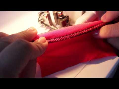 Обработка рукава плоским швом