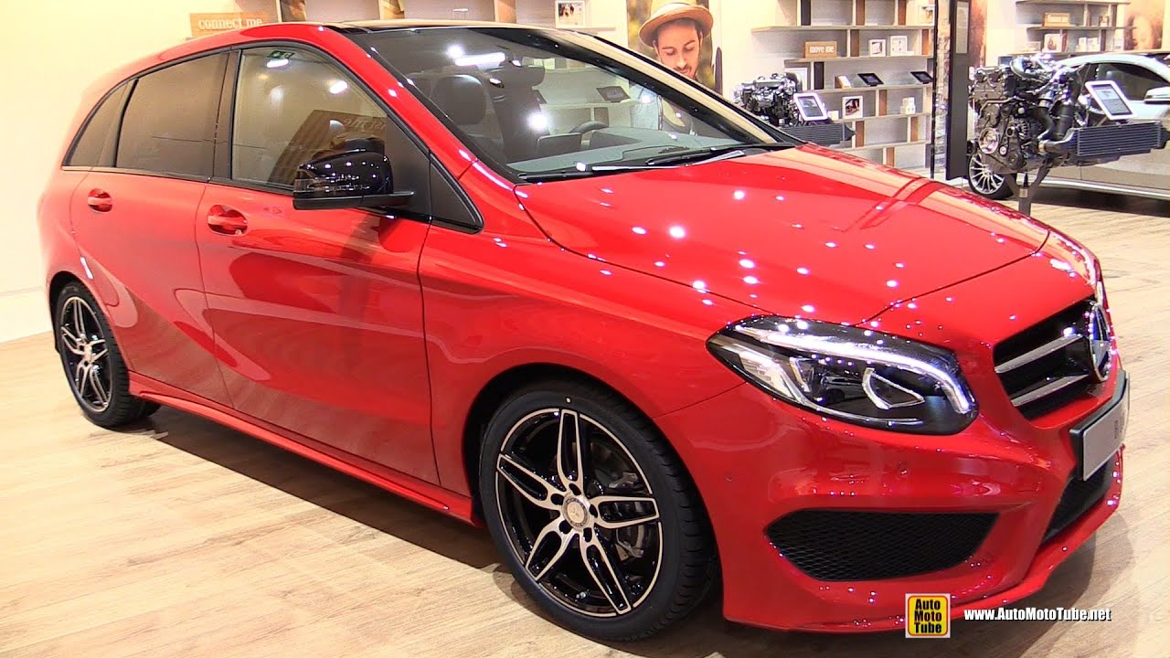 2016 mercedes b class b180 exterior and interior walkaround 2015 frankfurt motor show youtube. Black Bedroom Furniture Sets. Home Design Ideas