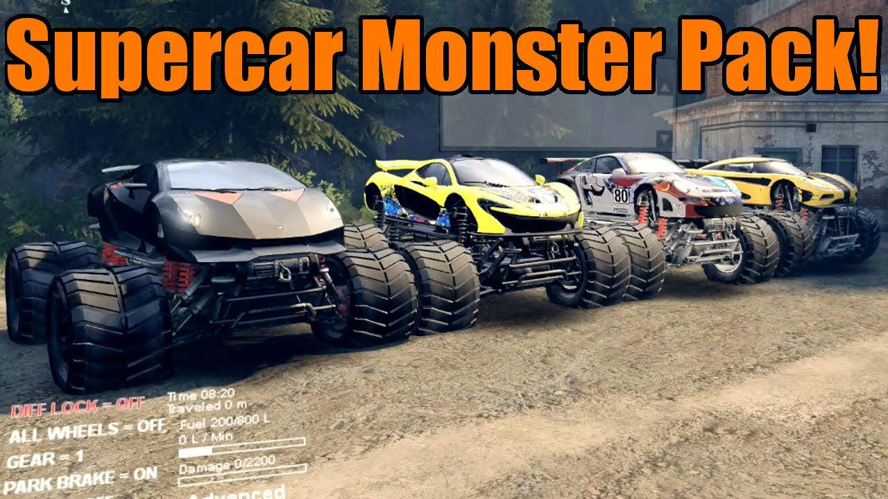 Spin Tires Supercar Monster Truck Pack Youtube