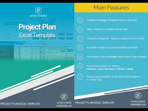Project Plan Template - Advanced - YouTube - project plan template