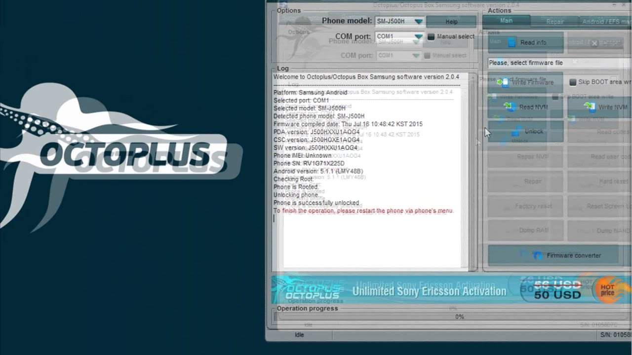 Octopus/Octoplus Box Samsung Updates Check Inside