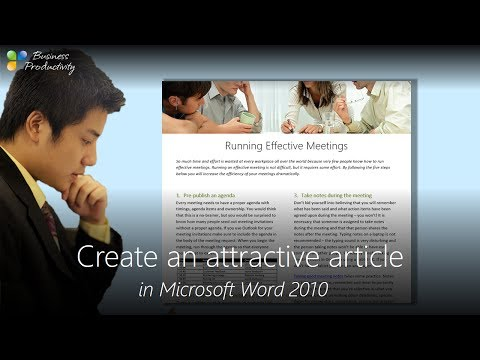 Create an attractive article in Microsoft Word 2010