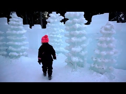 Alaskan ICE PARK | Rides made out of ICE