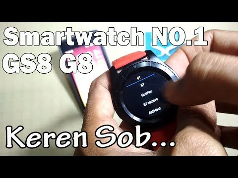 NEW !!! Smartwatch NO.1 GS8 G8 For Android IOS: Unboxing and Review | INDONESIA