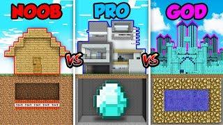 Minecraft NOOB vs. PRO vs. GOD: HOUSE TRAP BUILD in Minecraft! (Animation)