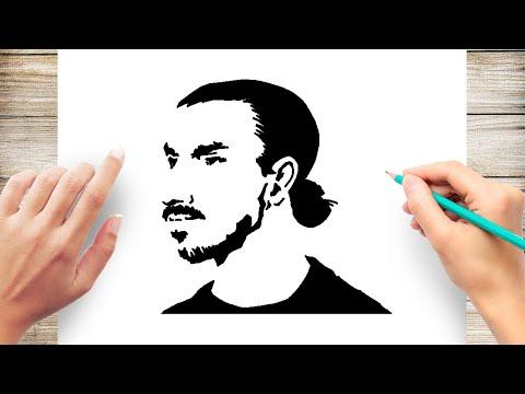 How to Draw Zlatan Ibrahimovic Step by Step